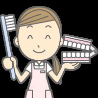 福山デンタルクリニック医師による子どもの歯みがき説明のイラスト