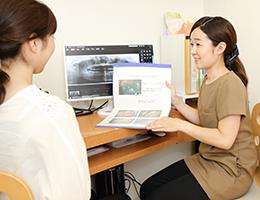 神戸市東灘区甲南山手にある歯科・歯医者の福山デンタルクリニックのカウンセリングルームの写真
